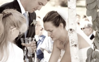 Lighting a candle during the Wedding Ceremony Ceremony